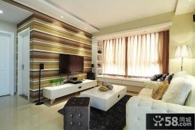 简欧时尚3平米客厅电视背景墙
