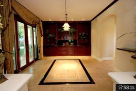 别墅大厅室内地板砖装修图片