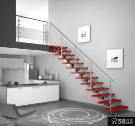 时尚家居复式楼不锈钢楼梯扶手
