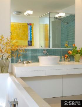 现代风格卫生间浴室柜图片