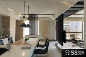 室内开放式厨房设计效果图