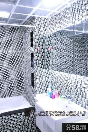 卫生间马赛克瓷砖背景墙设计