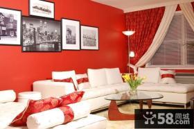 12万打造小户型浪漫婚房 客厅背景墙装修效果图