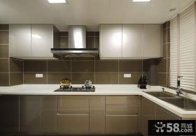 现代简约厨房整体橱柜效果图欣赏