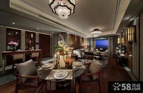 新古典风格西餐厅设计效果图
