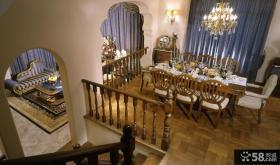 别墅餐厅客厅隔断装修设计