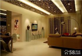 现代家装小户型客厅吊顶效果图