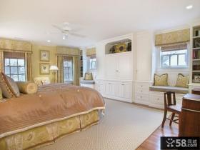 欧式主卧室整体衣柜效果图