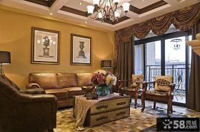 美式风格客厅装饰画效果图片