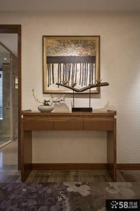 中式风格玄关桌装饰画图片欣赏