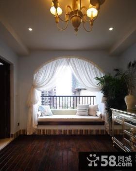 优质卧室飘窗窗帘设计