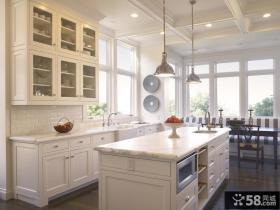 欧式开放式厨房装饰效果图