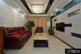 现代家装客厅装潢案例