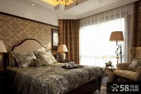 欧式风格卧室床头壁纸背景墙效果图欣赏