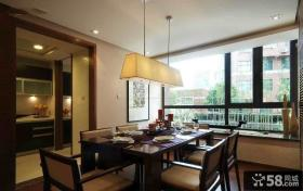 2014美式风格餐厅飘窗设计图片