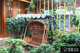 新中式风格阳台吊椅装修效果图