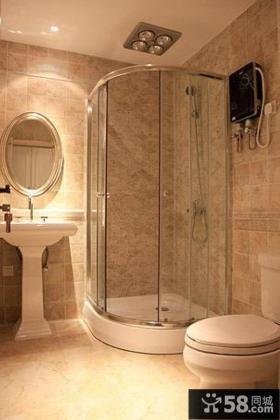 美式田园风格居家卫生间图片欣赏