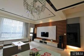 美式家庭装修客厅电视背景墙图片