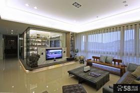 日式设计客厅电视背景墙效果图大全