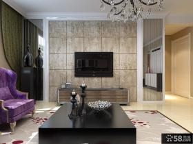 艺术瓷砖电视背景墙效果图欣赏