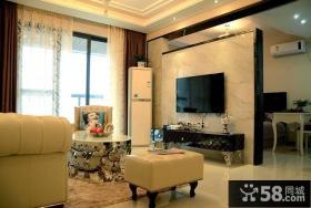 客厅电视瓷砖背景墙效果图欣赏