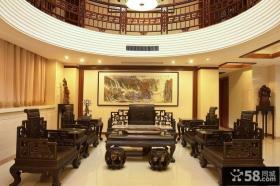 中式复式楼客厅家具摆放图片