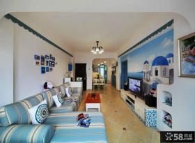 地中海田园风格小户型客厅装修图片大全
