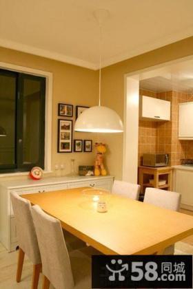 简约两室两厅家装餐厅设计效果图片