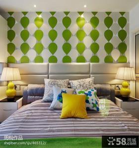 卧室壁纸设计效果图大全