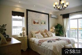 欧式卧室床头壁纸背景墙装修效果图