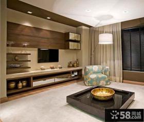 装修室内客厅电视背景墙