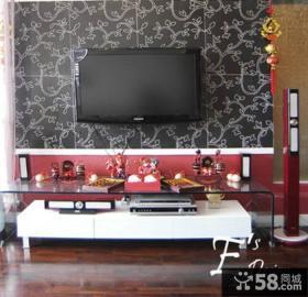 现代简约时尚电视背景墙效果图片