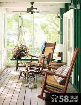 优质美式小阳台装修效果图大全2013图片