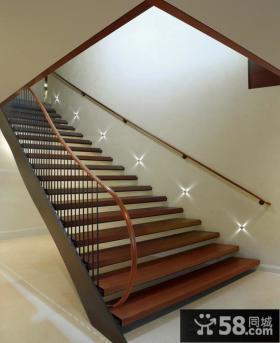 美式时尚设计楼梯图片大全