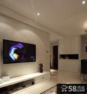 现代简约小户型家装设计电视墙图片