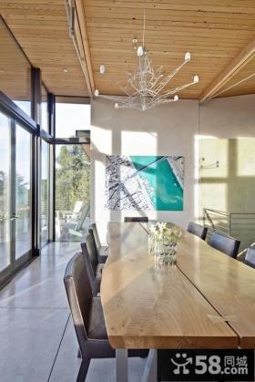 农村别墅餐厅吊顶效果图片