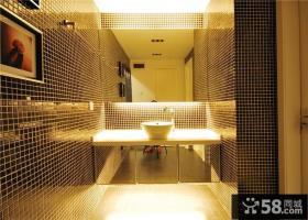卫生间马赛克瓷砖背景墙设计效果图