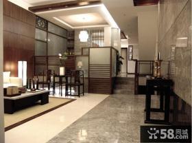 中式风格复式楼客厅装修效果图欣赏