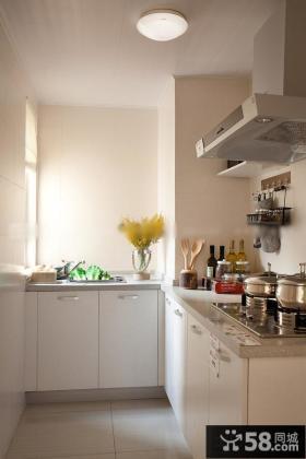 简约家居风格L型厨房效果图片