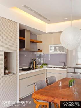 现代简约风格厨房装设计图片大全