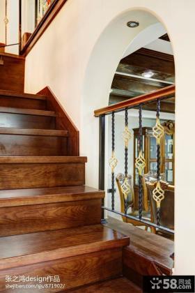 复式别墅实木楼梯设计图