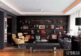 现代感二居室客厅沙发背景墙装修效果图大全2012图片