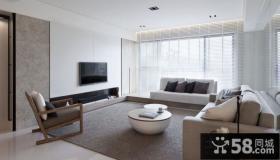 灰色简约客厅装修效果图欣赏