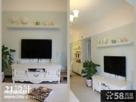 客厅电视柜背景墙装修效果图片