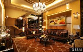 现代欧式风格复式楼客厅装修图片