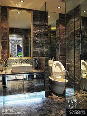 别墅大理石卫生间瓷砖效果图