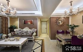 欧式设计客厅吊顶图