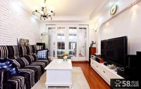 地中海式客厅电视背景墙效果图欣赏