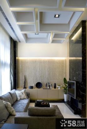 现代超小户型装修客厅吊顶效果图