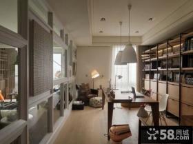 后现代风格室内三室两厅装修效果图